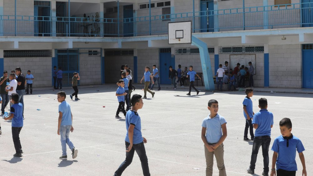 «Fermer des écoles de l'UNRWA»–comme ici à Ramallah–«reviendrait à ouvrir des écoles pour le mouvement islamiste du Hamas», redoute Jean-Paul Chagnollaud, président de l'Institut de recherche et d'études Méditerranée Moyen-Orient.