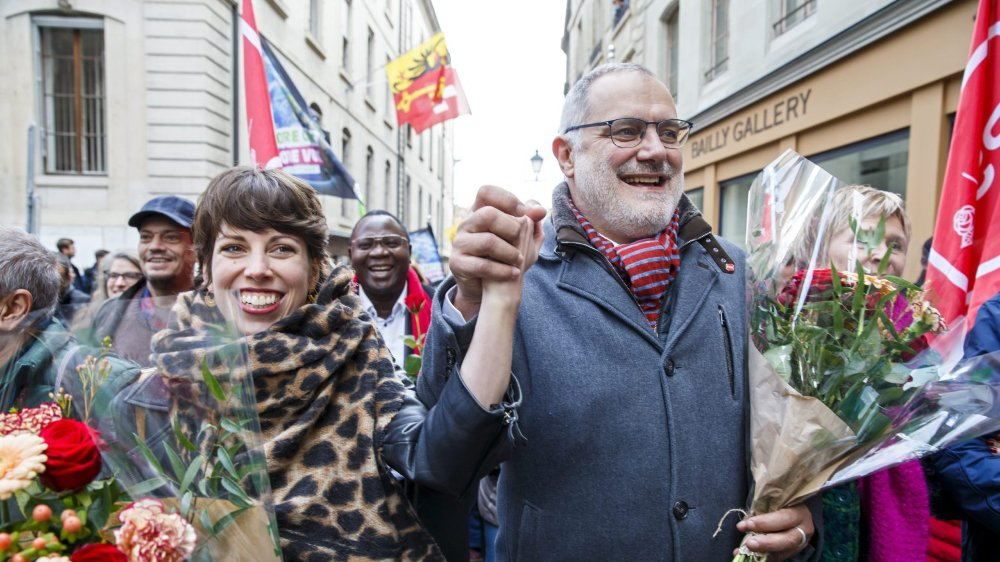 La Verte Lisa Mazzone et le socialiste Carlo Sommaruga: la gauche genevoise a été élue en force au Conseil des Etats.