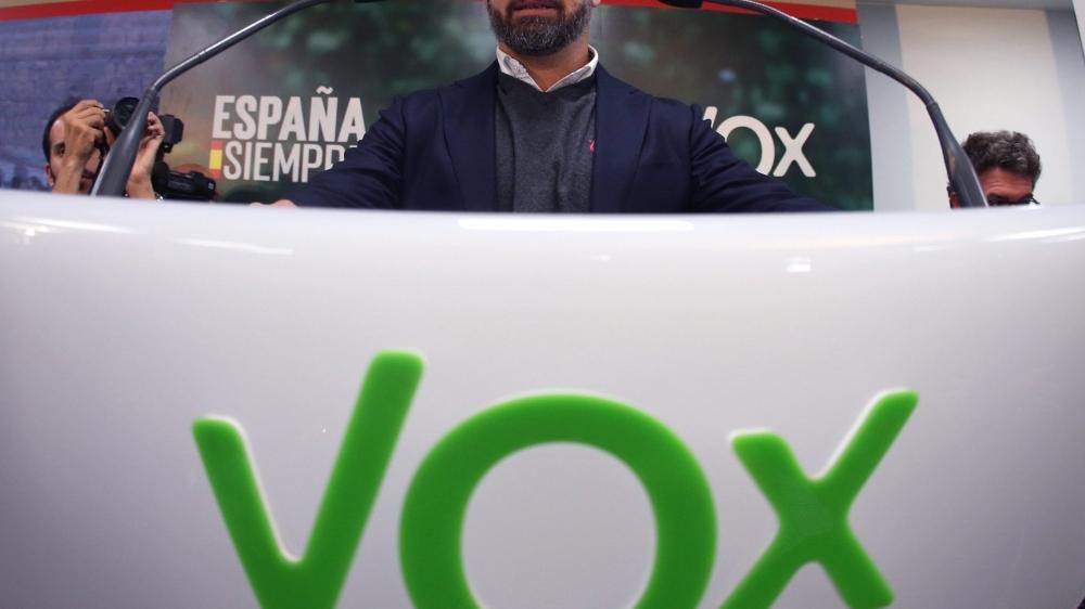 Santiago Abascal, le chef de file de l'extrême droite espagnole.