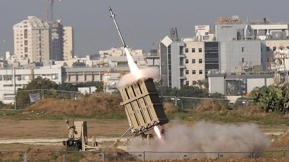 Ce missile a été tiré hier, près de la cité d'Ashdod, en Israël, pour intercepter une roquette tirée sur le territoire israélien.