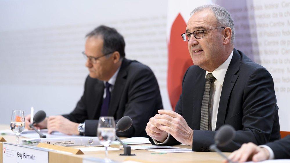 Le ministre de l'Economie, Guy Parmelin, a lancé, hier, la campagne en vue de la votation du 9 février.