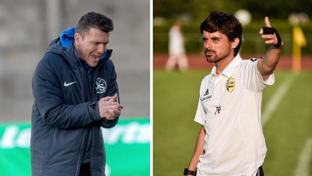 Le respect est mutuel entre l'entraîneur yverdonnois Anthony Braizat (à g.) et le stratège nyonnais Ricardo Dionisio (à dr.). Mais samedi, pas de cadeaux!