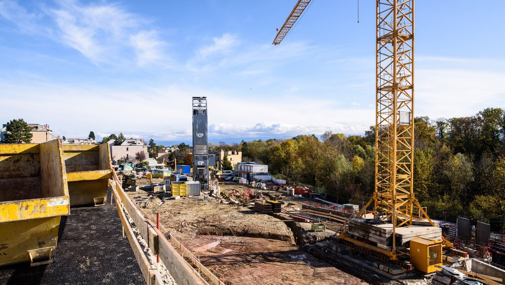 A la rue du Stand, à Nyon, le chantier du futur écoquartier construit par la Codha vient de démarrer. Dans deux ans, cette coopérative accueillera ses premiers habitants.