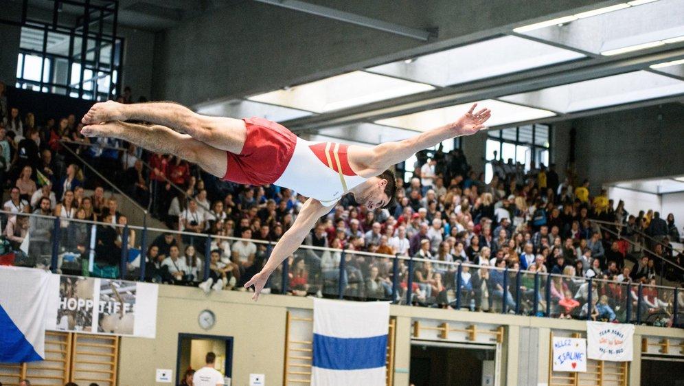 Stéphane Détraz a pris son envol devant un public nombreux à Grand-Champ.