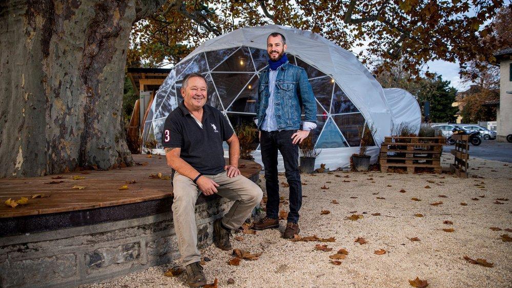 Yvan Savary et Marc Scheiwiller veulent faire du Dôme un lieu convivial ouvert toute l'année.