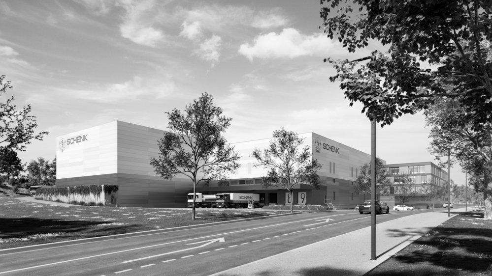 Le futur site de production de la maison Schenk vu depuis l'entrée de Rolle.