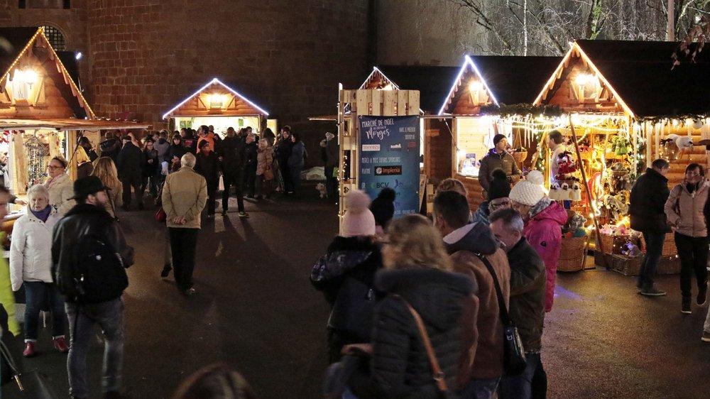 A Morges (photo), comme à Nyon, le marché de Noël est une animation importante dans la vie des commerçants.