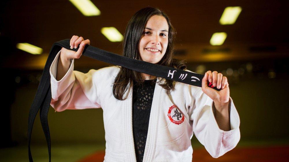 Emilie Amaron a retrouvé le sourire sur les tatamis, même si le traumatisme de sa blessure est encore en tête.