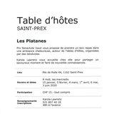 """Table d'hôtes """"Les Platanes"""""""