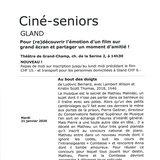 Ciné-seniors Gland - Au bout des doigts