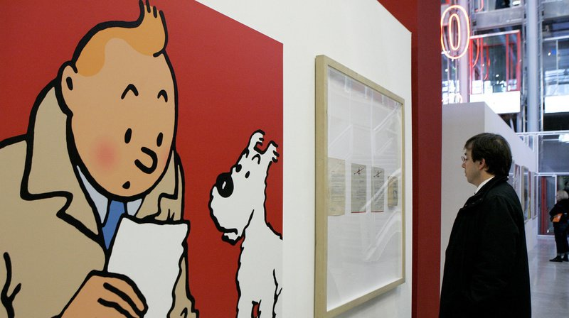 Enchères: une planche d'Hergé tirée des aventures de Tintin s'envole à 394'000 euros à Paris