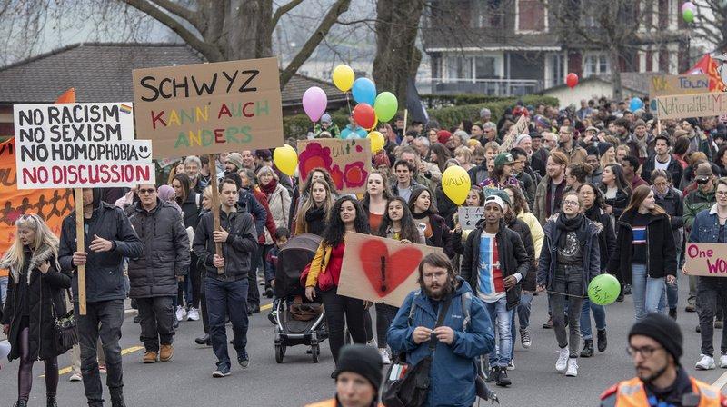 Le 13 avril dernier, une manifestation antiraciste s'était tenue pour répondre au défilé du carnaval.