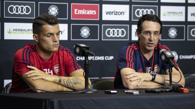 Football: Unai Emery écarte Granit Xhaka de l'équipe après les insultes du Suisse envers ses fans