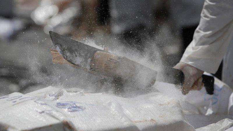 400 kg de cocaïne estimés à 8 millards de yens: c'est une saisie record pour les autorités japonaises. La cargaison sera détruite.