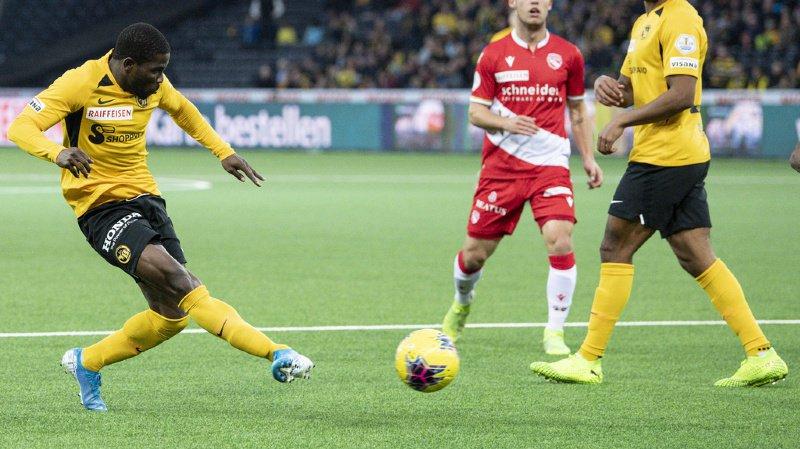 Roger Assalé a mis deux buts contre Thoune.