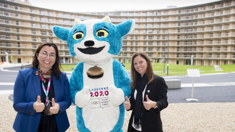 Lausanne- JOJ: des bénévoles aménagent le village olympique