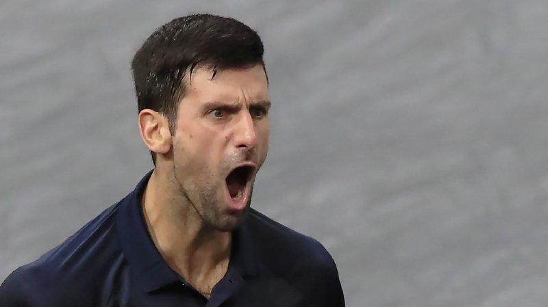 Tennis: Novak Djokovic se qualifie pour sa 6e finale à Paris-Bercy