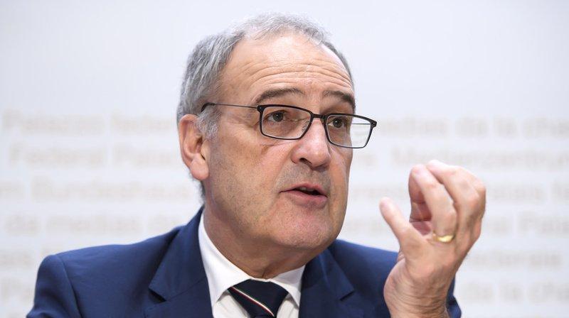 Guy Parmelin a expliqué mercredi pourquoi le Conseil fédéral propose de supprimer les droits de douane sur les produits industriels. (Archives)