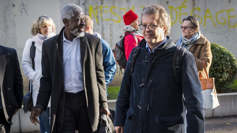 Michel Agnant et Jérôme Christen ont comparu mardi devant le Tribunal de police à Vevey.