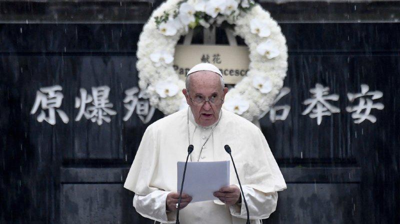 Japon: à Hiroshima, le pape François fustige l'arme nucléaire