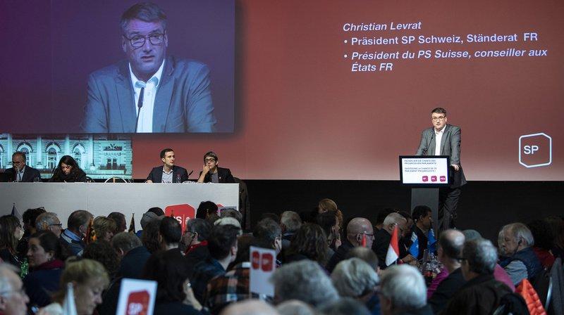 Christian Levrat s'est exprimé ce samedi lors de l'assemblée des délégués du Parti socialiste à Berne.