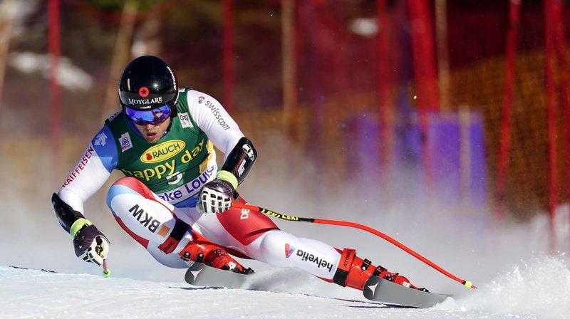 Le Suisse Mauro Caviezel a gagné le médaille de bronze lors du super-G. Il termine à 0''49 du vainqueur Matthias Mayer.