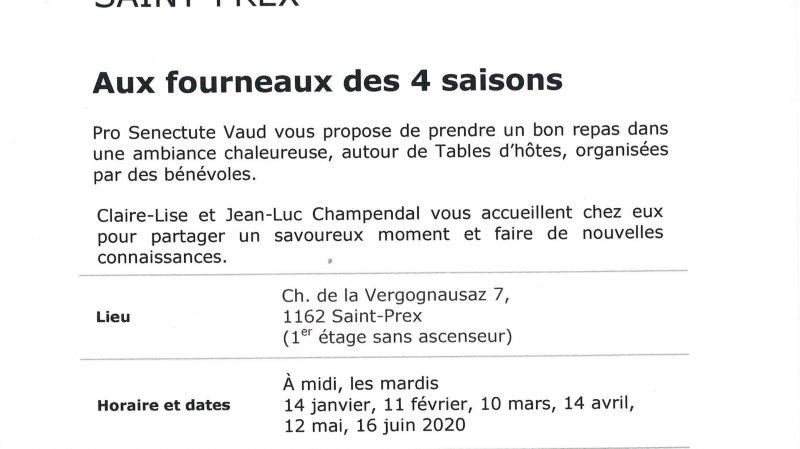 Table d'hôtes à Saint-Prex