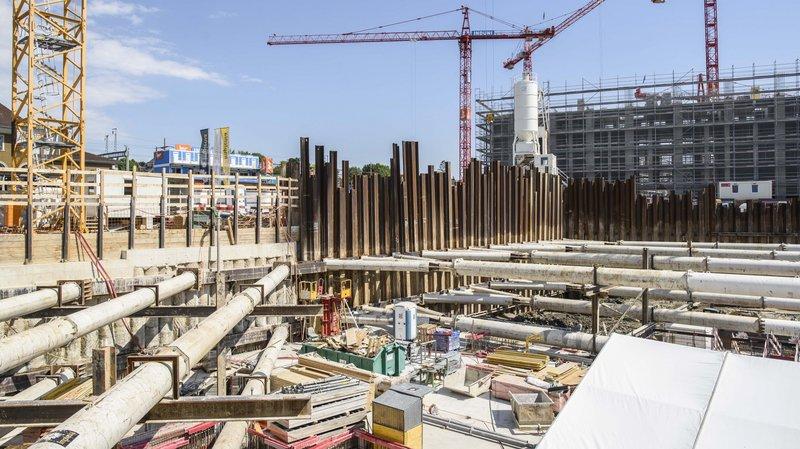 L'îlot Gare Sud est l'un des nombreux chantiers en cours.