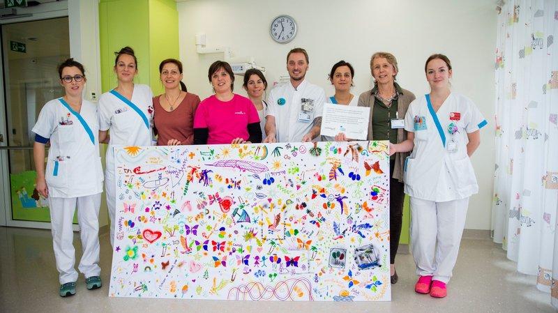 Morges: des petits artistes insufflent de l'espoir sur les murs de l'hôpital