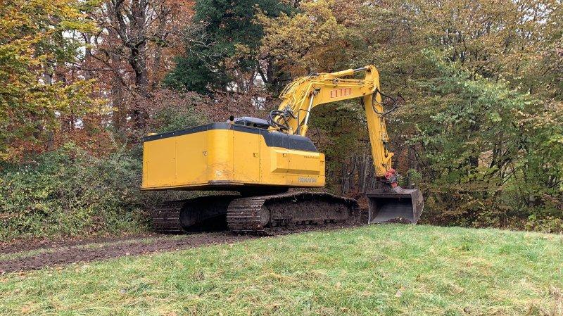 Bois de Chênes: des machines de chantier inquiètent les promeneurs