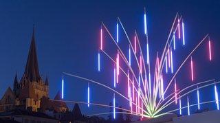 Vaud: Lausanne se pare de lumières