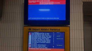 CFF: matinée chaotique entre Lausanne et Genève