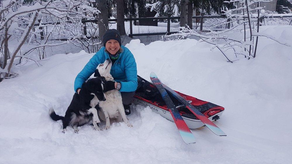C'est accompagnée de son mari, de ses deux chiens, de son chat et de sa jument que Rachel Frei Bandieri a pris ses quartiers en Laponie.