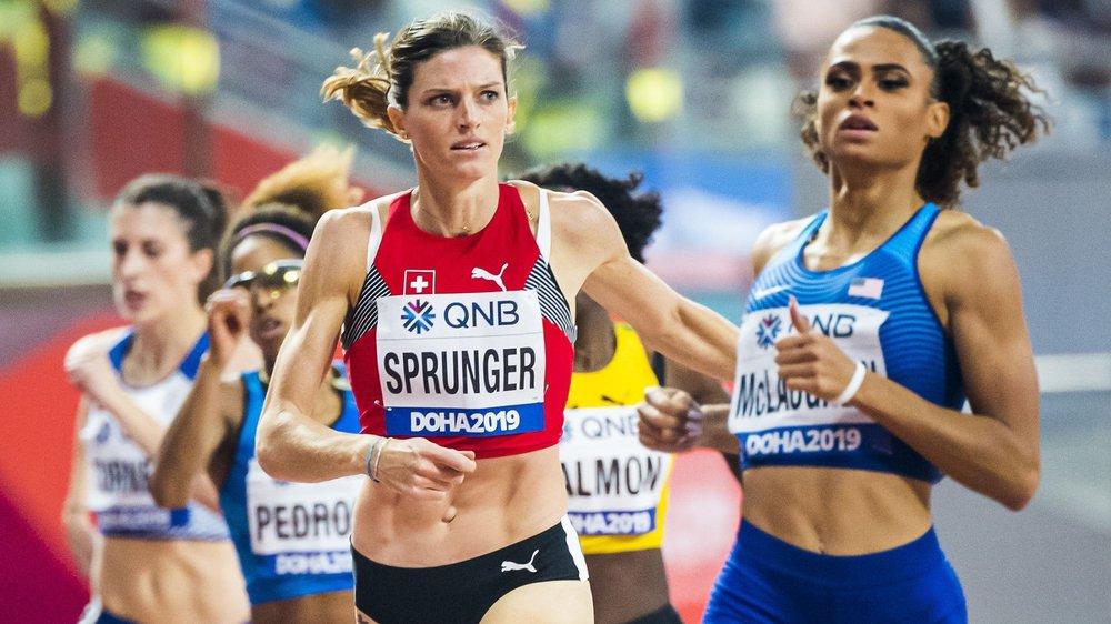 Lea Sprunger s'est emparée du record suisse du 400 m haies aux Mondiaux de Doha.