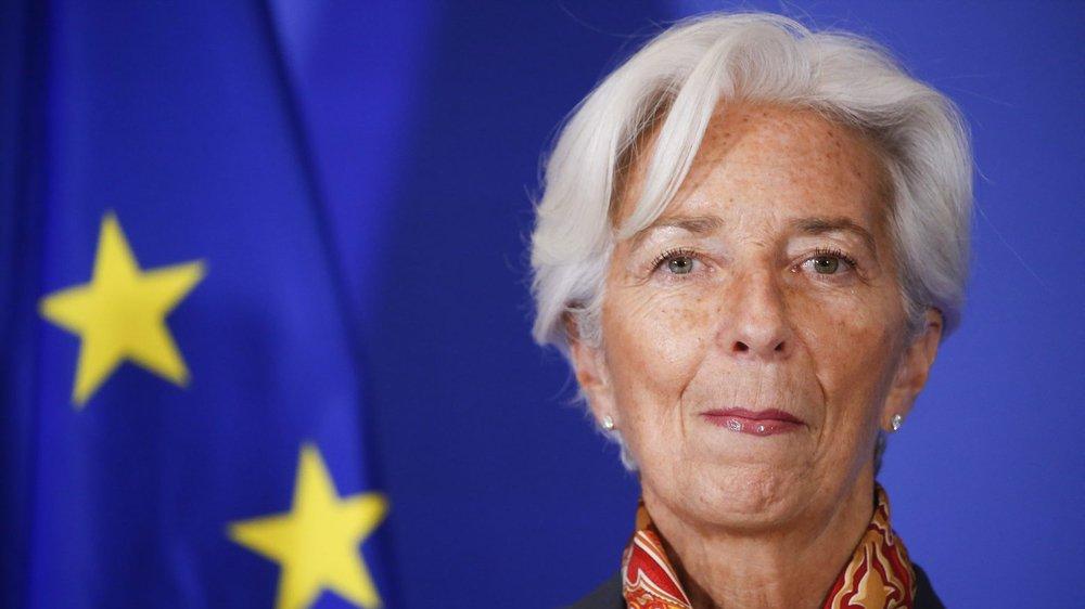 La présidente de la BCE, Christine Lagarde, dimanche, à Bruxelles.