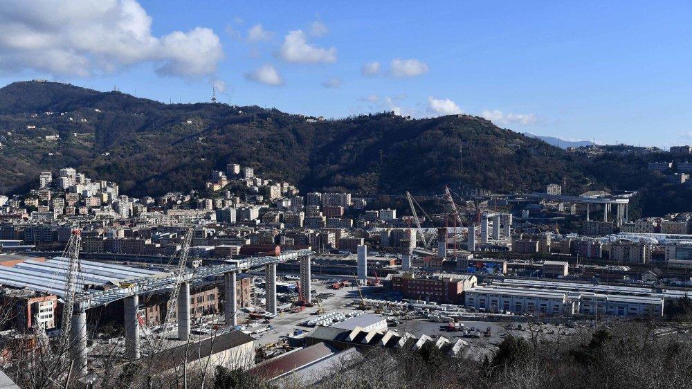L'Italie reste traumatisée par l'effondrement du pont Morandi, à Gênes, en août2018. Le pont est en reconstruction.