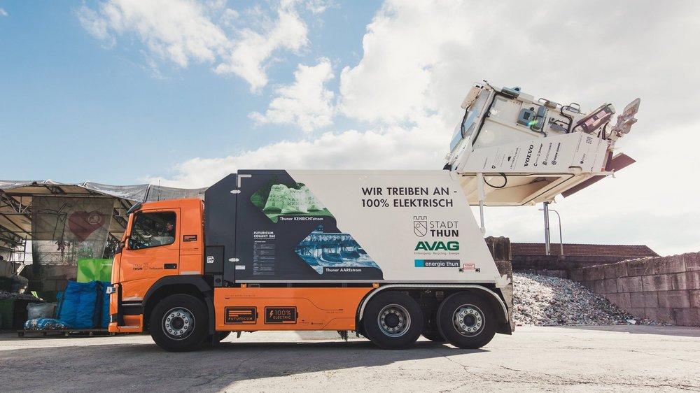 Les camions électriques Futuricum construits à Winterthour équipent notamment la voirie de Thoune.