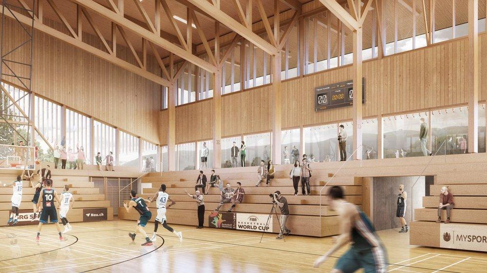 La nouvelle halle prévue à Colovray devrait pouvoir accueillir 2000 personnes.