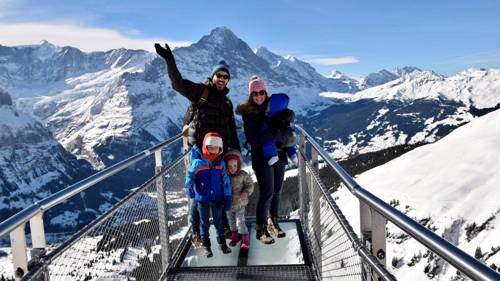 La famille Carrier sort presque tous les week-ends, comme ici à Grindelwald.