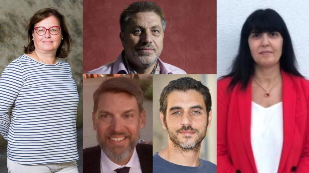 Maria Krasnova (à g.), Didier Lohri (en haut), Alexander Pacozzi (en bas à g.), Lorenzo Merlanti et Katia Gashi verront leur salaire augmenter dès 2020.