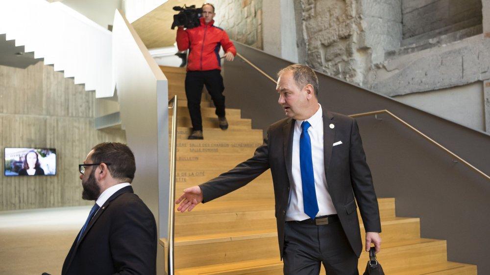 Yves Ravenel a préféré quitter le Parlement, mardi après-midi avant l'ouverture de la première séance de l'année des députés vaudois. C'est la première vice-présidente du Grand Conseil qui a dirigé les débats à sa place.