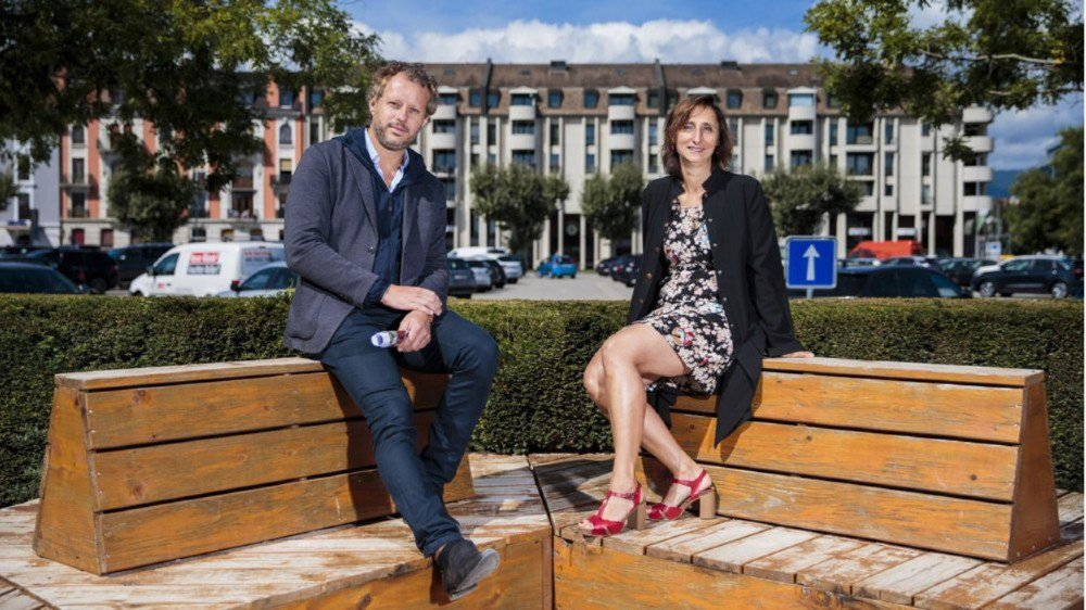 Laurent Saurer, architecte, et Julie Imholz, architecte-paysagiste, font partie de l'équipe qui va  réaliser le futur parc Perdtemps.