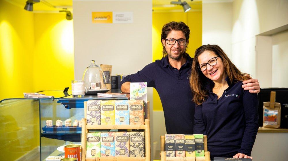 Sébastien Tailliez et Alexandra Müller ont ouvert leur épicerie samedi dernier.