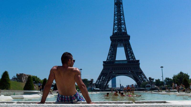 En juillet 2019, le mercure est monté jusqu'à 42,6° à Paris. (Archives)