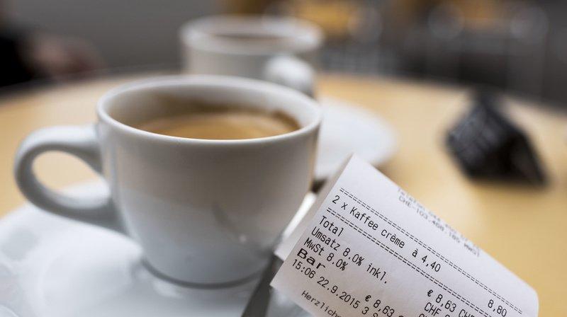 L'association Cafetiersuisse a récolté le prix du café dans 650 établissements différents. (Illustration)