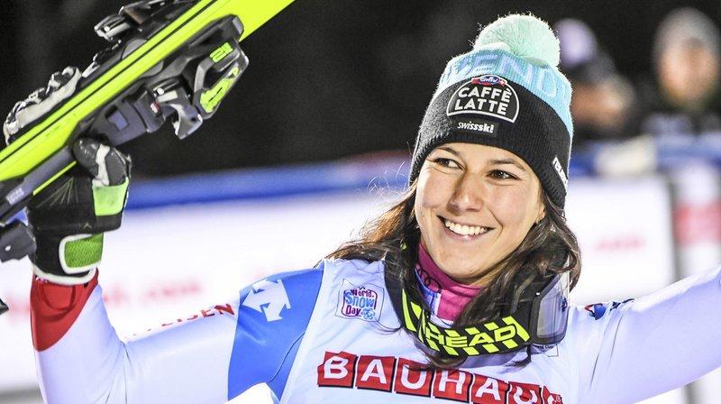 Ski alpin: Wendy Holdener 3e du géant de Courchevel, son tout premier podium dans la discipline!