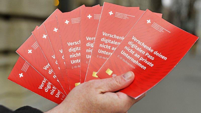 Campagne contre le passeport suisse numérique (E-ID) et collecte de signatures à Zurich, le 5 décembre dernier.