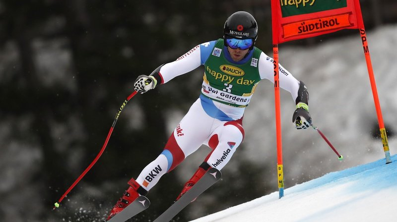 Ski alpin: Mauro Caviezel au pied du podium du super-G de Val Gardena