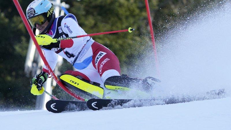 Wendy Holdener a manqué d'agressivité en début de slalom. Ça lui coûte la victoire (archives).