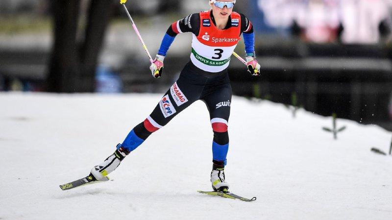 Ski nordique: Nadine Fähndrich et Laurien van der Graaff deuxièmes à un cheveu des Suédoises